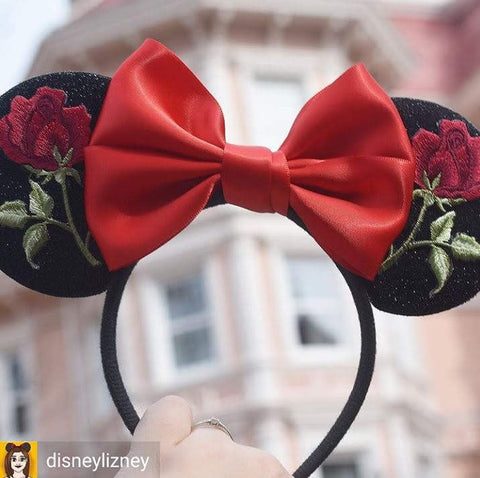 red rose enchanted rose headband lubyandlola disneylizney
