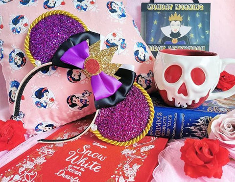 snow white cushion disney home collection evil queen ears