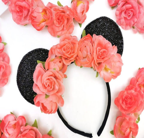 Crazy Coral Minnie Ears