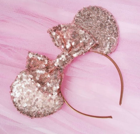 Sequin Sparkle Ears with Sequin Bow