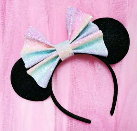 Glitter Bow Mouse Headband