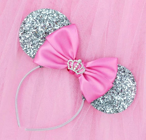 Glitter Princess Ears with Crown