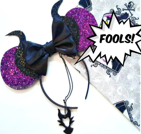 Glitter Maleficent Ears