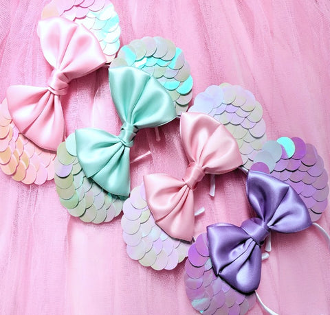 Magical Mermaid Ears - choose your bow colour!