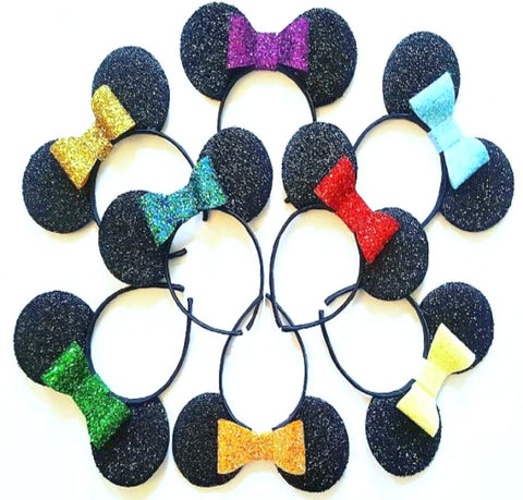 Glitter Bow Mouse Ears