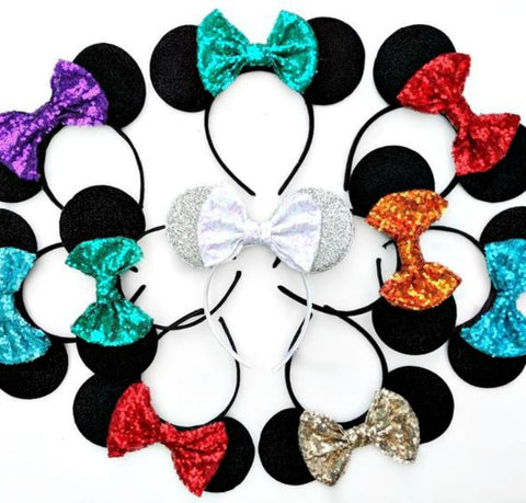 Ears with Sequin Bow - Custom Colours