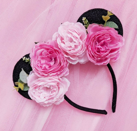 Pretty Peonies Flower Crown Ears