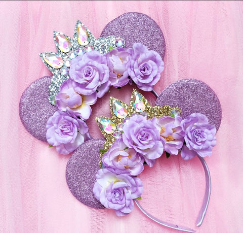 Floral Rapunzel Crown Headband
