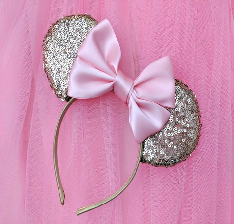 Sassy Sequin Ears with Satin Bow
