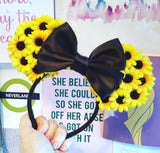 Sunflower Floral  Ears