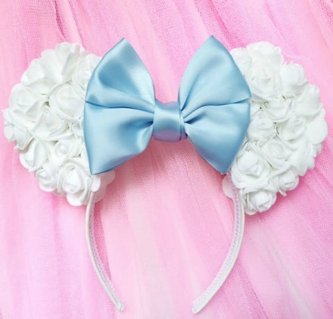 Foam Rose Ears with Satin Bow