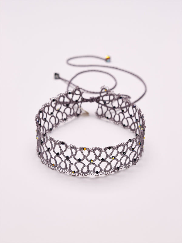 LITTLE HAVVA - CHOKER grey