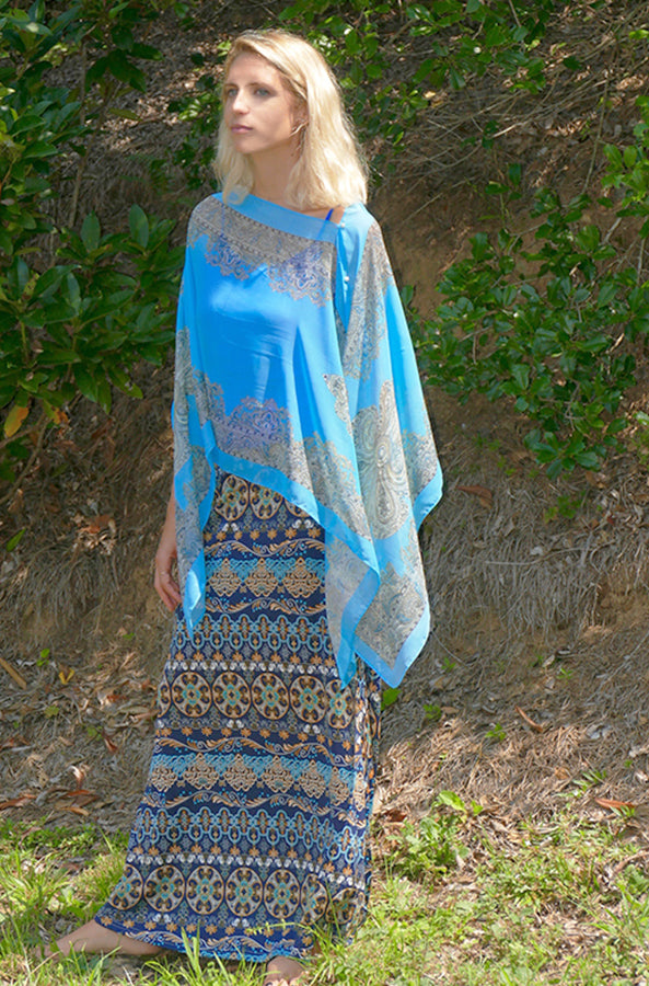 Maxi Skirt in Rich Medallion Print