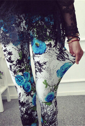 Leggings Blue Orchid & Black