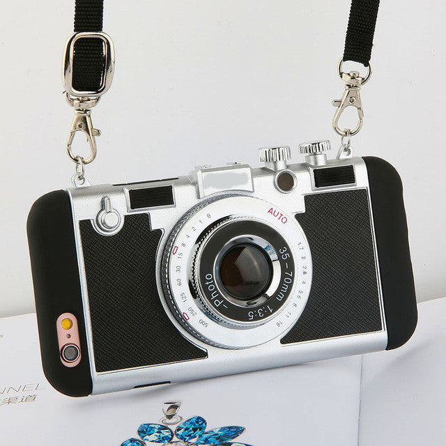 iPhone Case that Looks Like an Old School Camera in Black