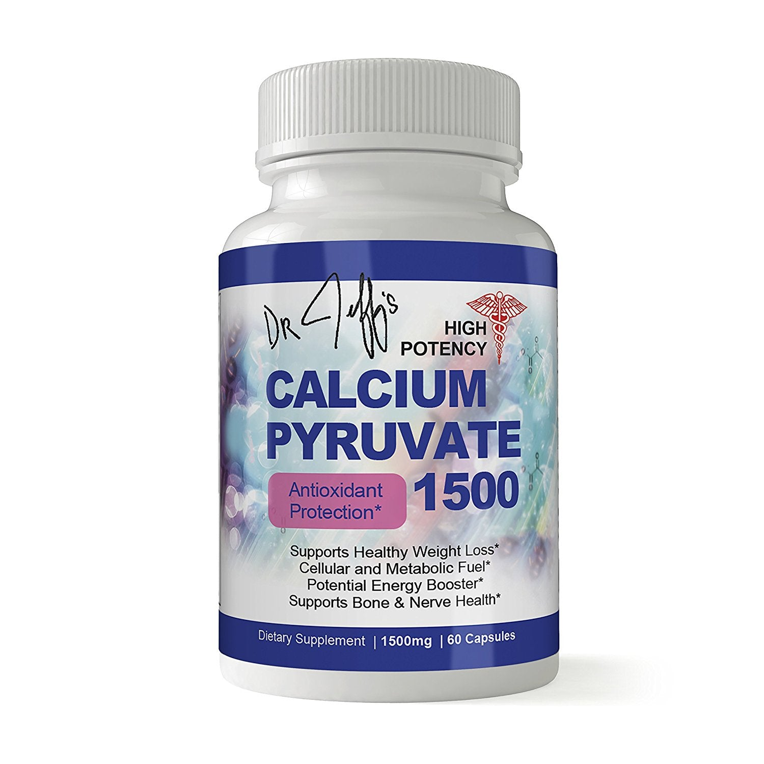 Dr. Jeff's High Potency Calcium Pyruvate 1500mg Daily Antioxidant Formula (60 Capsules)