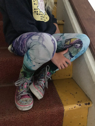 Artist Generations-Youth Leggings-Pretty In Purple