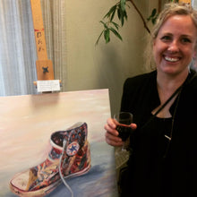 Shoe Original Art With Artist Reni Fee