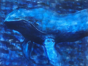 Big Blue - Original Artwork by Reni Fee