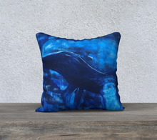Big Blue Throw Pillow