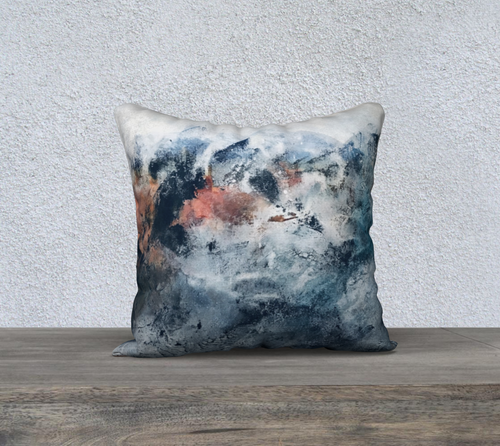 Early Summit Throw Pillow by Artist Generations