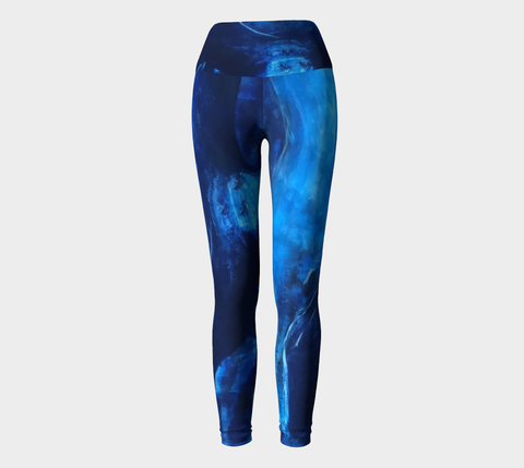 Big Blue Yoga Leggings