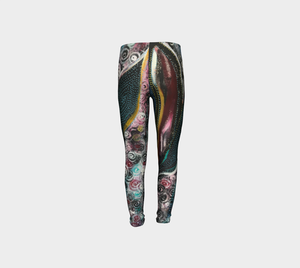 Wearable Art - Artist Generations - Youth Leggings - Spiraling Towards Spring