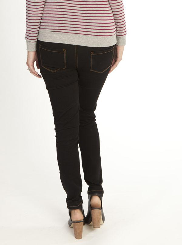 Maternity Comfortable Stretch Jegging in Black #5042 - Angel Maternity - Maternity clothes - shop online