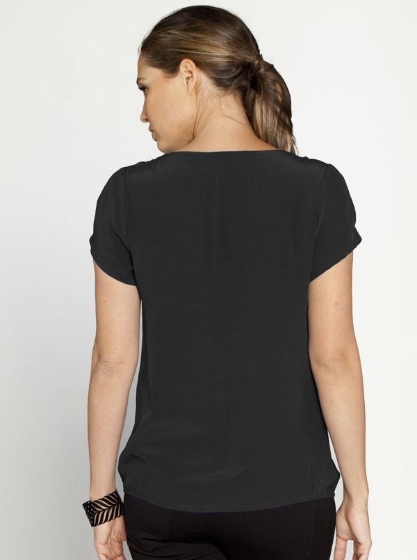 Maternity Little Short Sleeve Top - Black - Angel Maternity - Maternity clothes - shop online