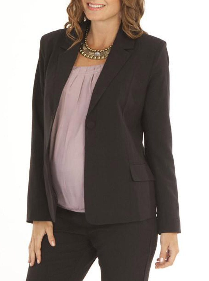Maternity Work Corporate Jacket in Black