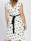 Maternity Tie Back Short Sleeve Chiffon Dress - Spots