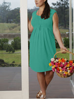 Lucy Cap Sleeve Little Cotton Dress - Jade Green - Angel Maternity - Maternity clothes - shop online