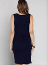 Maternity Reversible Dress in Navy Stripes back