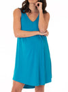 Maternity Swing Nightie Sleep Dress with Nursing Opening in Blue