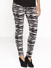 Maternity Cotton Twill Cropped Pants in Zebra Print