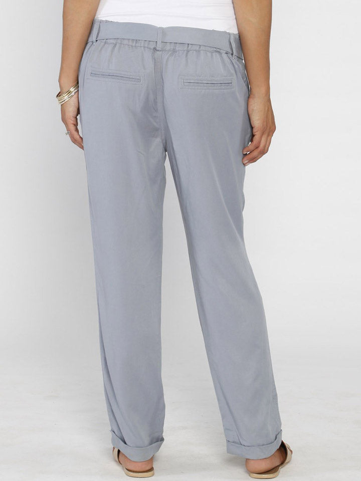 Comfortable Maternity Tencel Pants in Light Blue
