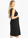 Black maternity dress back