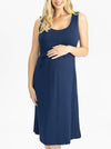 Maternity & Nursing Sleeveless Dress in Navy and Black