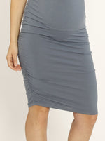 Bamboo Story Body Hugging Maternity Dress - Powder Blue castle hill maternity store