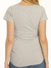Basic Maternity ME & MINI ME fitted Slogan Tee - Grey