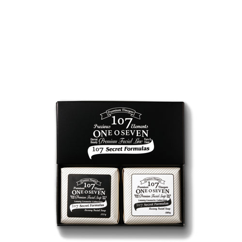 Oneoseven Premium Black & White Soap Set