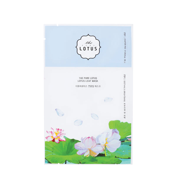 The Pure Lotus 2-Step Lotus Leaf Soothing & Brightening Mask