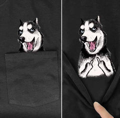 Middle Finger Husky T-Shirt