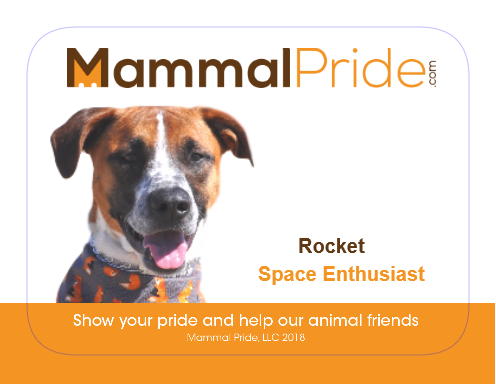 Mammal Pride Sticker - Rocket