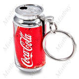 Mini Cola Can Style Refillable Gas Cigarette Lighter with Keychain - Toplen