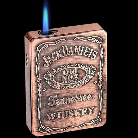 Cool Refill Butane Cigarette Lighter Flame Torch with Whiskey Pattern for Smoker - Toplen