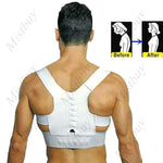 Unisex Therapy Posture Corrector Magnetic Shoulder Back Belt Vest Adjustable - Toplen