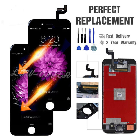 iPhone 6 6s Plus Black White Retina LCD & Digitizer Touch Screen Assembly Replacement - Toplen