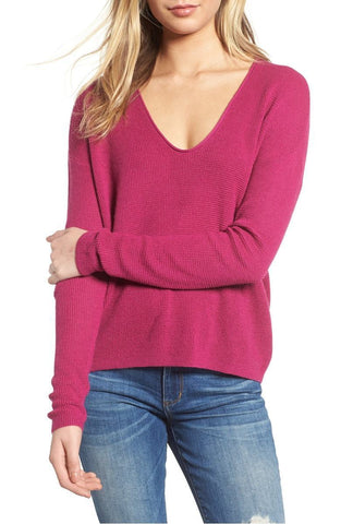 Women Autumn Winter Solid Color Sweater Loose Knit Tops - Toplen