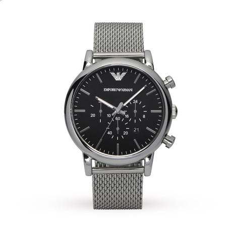 Emporio Armani AR1808 Mens Classic Chronograph Stainless Steel Watch - Toplen